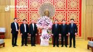 Tòa Giám mục Giáo phận Vinh thăm, chúc Tết Tỉnh ủy, HĐND, UBND, Ủy ban Mặt trận Tổ quốc tỉnh