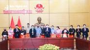 Ban Tổ chức Trung ương trao ủng hộ 'Tết Vì người nghèo' của tỉnh Nghệ An