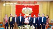 Ủy ban Đoàn kết Công giáo Nghệ An chúc mừng năm mới tại Tỉnh ủy