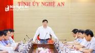 Phó Bí thư Thường trực Tỉnh ủy Nguyễn Văn Thông chủ trì giao ban khối Nội chính