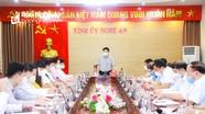 Thường trực Tỉnh ủy Nghệ An giao ban với Mặt trận Tổ quốc và các tổ chức chính trị - xã hội cấp tỉnh