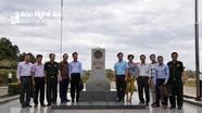 Bộ Ngoại giao thực địa tại cột mốc biên giới Việt Lào