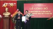 Trao quyết định Giám đốc Trung tâm Y tế huyện Nghĩa Đàn