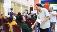 Sở Lao động - Thương binh và Xã hội Nghệ An thăm, tặng quà thương binh nặng