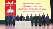 Quân khu 4 và 6 tỉnh ký kết phối hợp thực hiện nhiệm vụ quân sự, quốc phòng năm 2021