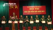 Đảng ủy Bộ CHQS tỉnh tổ chức Bế mạc Hội thi báo cáo viên giỏi năm 2021