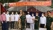 Bộ CHQS tỉnh Nghệ An thăm, tặng quà chốt phòng, chống dịch Covid-19 ở rẻo cao