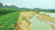 Khai thác cát làm mất đất sản xuất ở Tân Kỳ