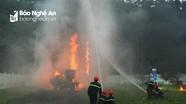 Dập tắt đám cháy ở trạm biến áp trong 3 phút