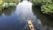 Sông Vinh, sông Đào chuyển màu đen ngòm, bốc mùi hôi thối