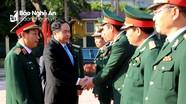 Chủ tịch Ủy ban MTTQ Việt Nam và lãnh đạo tỉnh Nghệ An chúc mừng Quân khu 4