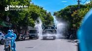 Quân đội sẽ phun khử khuẩn diện rộng ở TP Vinh
