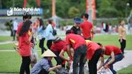 Hình ảnh đẹp của các bạn trẻ Nghệ An sau 2 trận đấu Asiad 2018