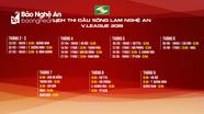 Lịch thi đấu chính thức SLNA tại V.League 2019