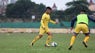 SLNA đấu tập nội bộ, Nguyên Mạnh bắt chính tại đội bóng mới