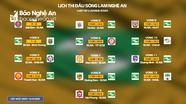Lịch thi đấu chính thức lượt đi của Sông Lam Nghệ An tại V.League 2020