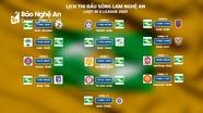 Lịch thi đấu chính thức của Sông Lam Nghệ An tại lượt đi V.League 2021