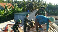 Đồn Biên phòng Quỳnh Thuận giúp hộ nghèo hoàn thiện nhà ở