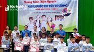Trao 84 suất học bổng cho trẻ em nghèo ở Quỳ Hợp