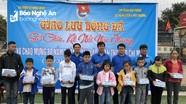 Giao lưu bóng đá gây quỹ, hỗ trợ học sinh nghèo ở TX. Thái Hòa