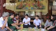 Hoạt động thăm hỏi gia đình gặp nạn, hỗ trợ người nghèo ở các địa phương
