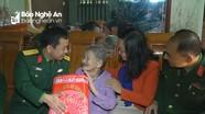 Bộ CHQS tỉnh thăm, tặng quà Tết cho hộ nghèo tại Nam Đàn, Hưng Nguyên