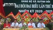 Đại hội Đảng bộ xã Quỳnh Đôi (Quỳnh Lưu) lần thứ XXX, nhiệm kỳ 2020 - 2025