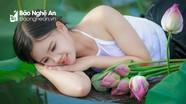 Thiếu nữ gợi cảm bên đầm sen Lại Lò