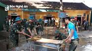 Bộ CHQS tỉnh triển khai lực lượng giúp dân khắc phục hậu quả lũ lụt