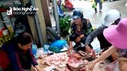 Thịt lợn không dấu kiểm dịch bán tràn lan ở thành phố Vinh