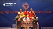 Đoàn thể thao Nghệ An giành được 3 HCV, 3 HCB và 1 HCĐ môn Cử tạ