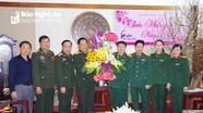 Bộ CHQS tỉnh Viêng Chăn thăm và chúc tết Bộ CHQS tỉnh Nghệ An