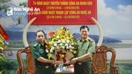 Bộ Chỉ huy Bộ đội Biên phòng tỉnh chúc mừng ngày truyền thống Công an Nghệ An