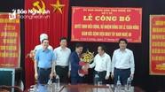 Công bố quyết định bổ nhiệm Giám đốc Bệnh viện Đa khoa khu vực Tây Nam Nghệ An