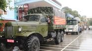 Bộ CHQS tỉnh điều động phương tiện, nhân lực hỗ trợ tỉnh Hà Tĩnh