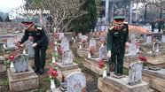 Bộ Tư lệnh Quân khu 4 dâng hương tại Nghĩa trang liệt sĩ quốc tế  Việt - Lào