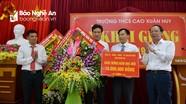 Chủ nhiệm Ủy ban Kiểm tra Tỉnh ủy dự lễ khai giảng năm học mới tại Trường THCS Cao Xuân Huy