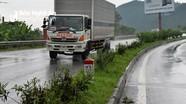 Hàng loạt cây xanh trên dải phân cách Quốc lộ 1A qua Nghệ An bị chặt trơ gốc