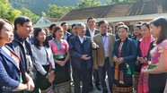 Thường trực Ban Bí thư Trần Quốc Vượng thăm, làm việc tại xã miền núi Nghệ An