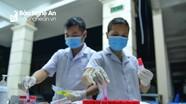 Thành phố Vinh khẩn trương lấy mẫu xét nghiệm Covid-19 để sàng lọc cộng đồng lần 3
