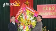 Lãnh đạo tỉnh chúc mừng các y, bác sĩ ở huyện Diễn Châu