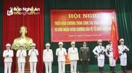 Công an Nghệ An đón nhận Huân chương bảo vệ Tổ quốc hạng Nhất