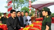 Trang trọng Lễ an táng hài cốt các liệt sĩ Quân tình nguyện và chuyên gia Việt Nam hy sinh tại Lào