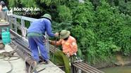 Thống nhất đề nghị xây dựng cầu cứng thay thế cầu treo sông Giăng ở Thanh Chương