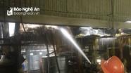 Đô Lương: Cháy nhà chứa rơm vừa thu hoạch