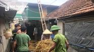 Cháy nhà chứa rơm, nghi do chập điện