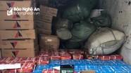 Phát hiện xe tải chở hàng lậu gian lận thương mại