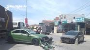 Truy tìm tài xế xe ben tông vào xe Mercedes, gây tai nạn liên hoàn rồi bỏ chạy