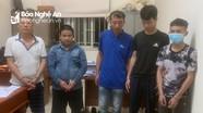 Bắt 5 đối tượng ở huyện lúa của Nghệ An mang bom xăng đi trộm chó