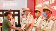 Nghệ An: Công bố Quyết định thành lập Công an chính quy tại các thị trấn